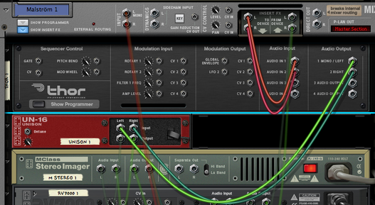Thor filter audio routing